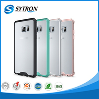 transparent bumper back cover For Samsung Note 7 hybrid tpu pc combo case