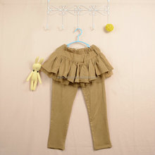 Wholesale baby kids ruffle pants cotton fashion children pants