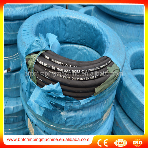 3/4 Inch Four Layer Reinforced Hydraulic Rubber Hose Pipe 4SH