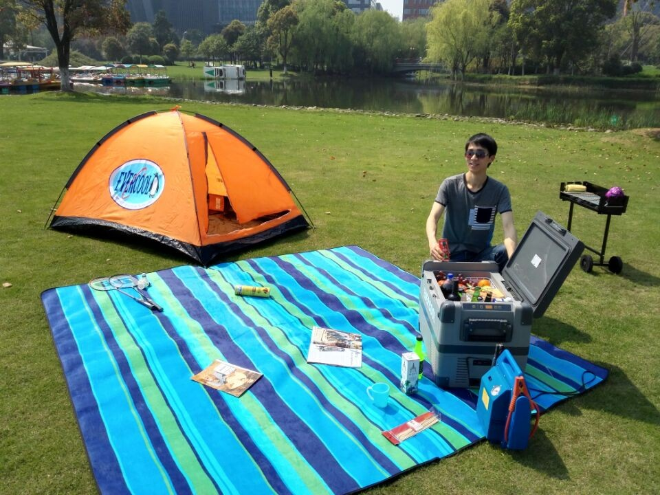 portable mini freezer solar 12v dc fridge compressor refrigerator 50L for caravan camping