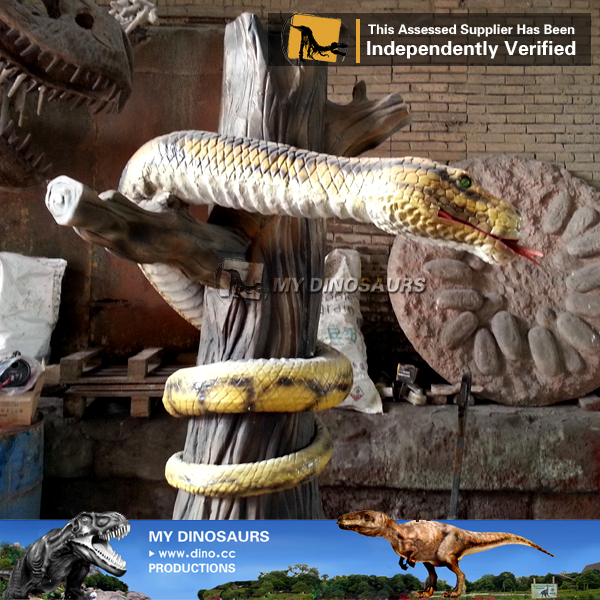 MY Dino-M05 Outdoor park life size robotic snake for sale