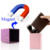 New Square Magnet blank wholesale pu leather glitter cosmetic bag makeup brush holder