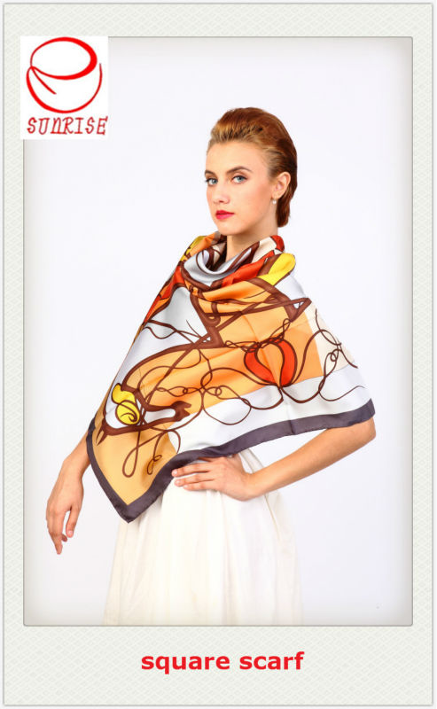 vintage scarf silk scarf photo print