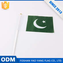 Pakistan Flag Custom Polyester Pakistan Hand Waving Flags