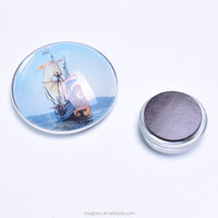 wholesale sailing ship crystal glass fridge magnets for tourist souvenir gifts