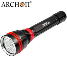 ARCHON WY08 100m diving lights New photo video lights 4000lmXP-L LED scuba diving flashlight underwater torch light