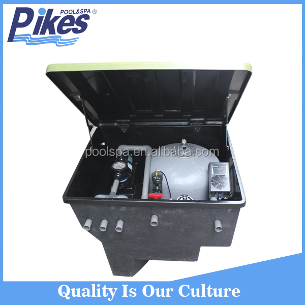 Fiberglass integrated inground swimming pool quartz sand filter media