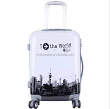 abs/pc full printed hard shell luggage with deffrent design