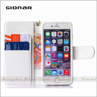 Factory Price with Card Passport Cash Slot PU Leather Cell Phone Case