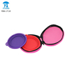Foldable Silicone pet dog bowl with Travel bag
