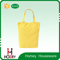Homey High quality Fresh yellow non-woven fabric bag lady tote bags