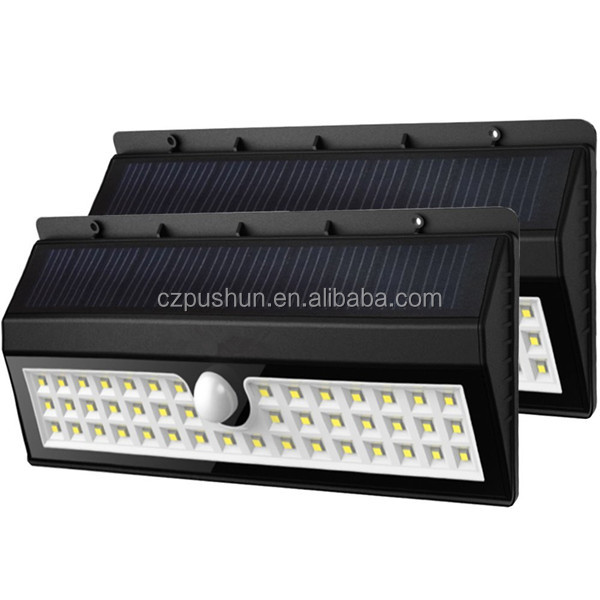 44 LED Outdoor Solar Motion Light +++ Digitally Adjustable TIME & LUX +++ Adjustable Solar Lamp +++ Adjustable Motion Sensor +++