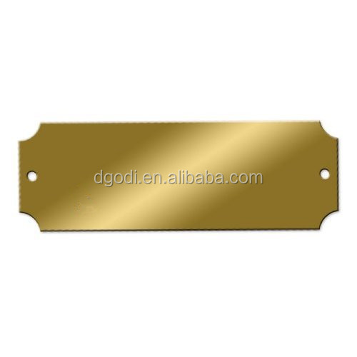 Hardware factory custom high precision brass name plate/brass logo plate