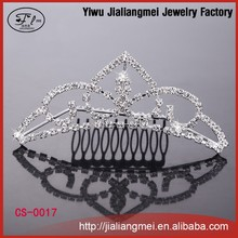 New fashion Flowers Bridal Prom Tiara wedding crown with Comb hair jewelry