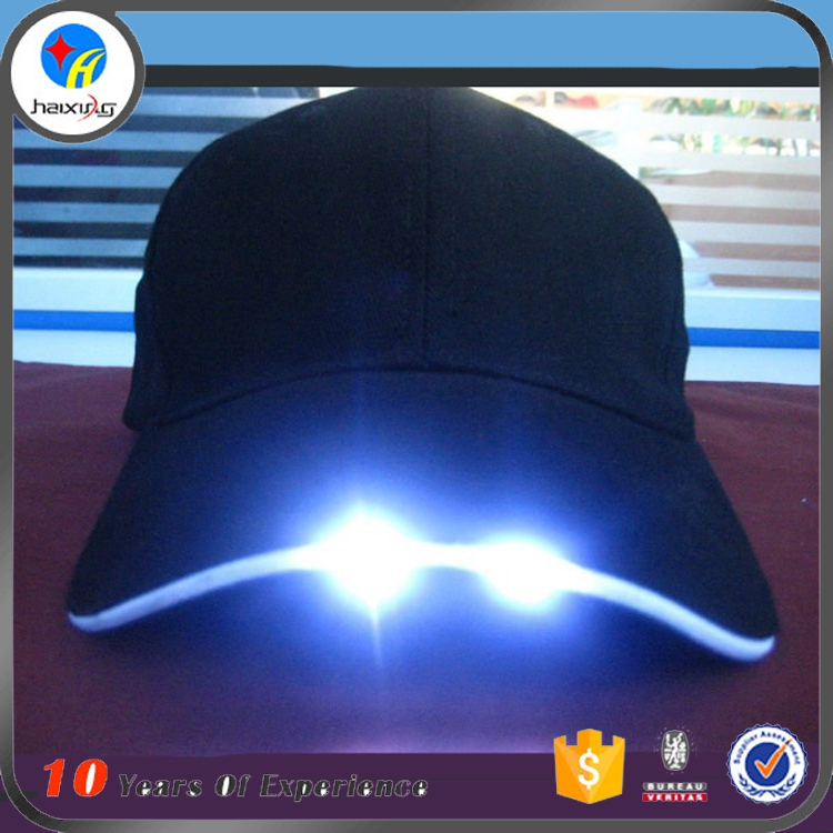 Hot Sell Baseball Cap with Built-in Led Light Led Cap