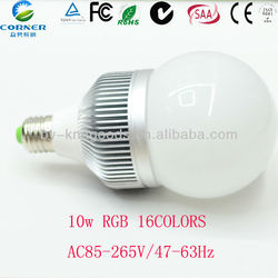 RGB led bulb gu10 color changing 10W neon bulb