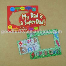 Paper fridge magnet with note pad,Magnetic photo frame