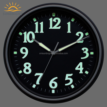 Custom Fashion Promotional Night Light Luminous Plastic Wall Clock