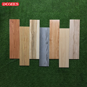 Interior floor tile 8mm thickness artificial wood grain glazed ceramic tile