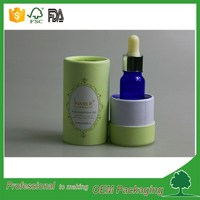 round cardboard box essential oil bottlr 30ml/100ml packaging tube biodegradble cardboard cosmetic paper tube made in China