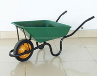 Large stable plastic wheelbarrow WB9600 with twin pnuematic wheel