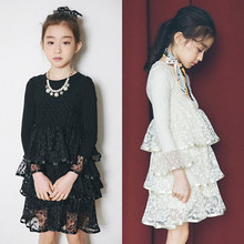 Alibaba Express New Premium Sexy Tulle Lace Layered Flower Kids Girl Dress