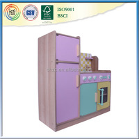 Environment Eco- Friendly wood material kitchen design toy set
