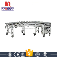Brother Factory price Stainless steel Motorized Flexible Extendable Roller Conveyor for industry ERC4M/D