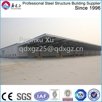 long large span with big canopy Storage Logistic warehouse