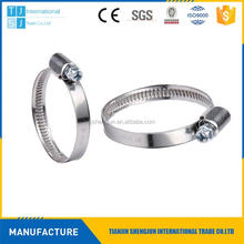 Plastic solid band worm drive clamps 150-170mm made in China