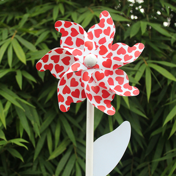 Colorful garden mini windmill with plastic windmill blades for children