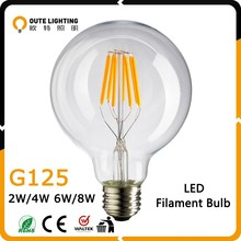 AC120V 220V 4W 6W 8W Retro Filament LED Bulb e27, dimmable filament led