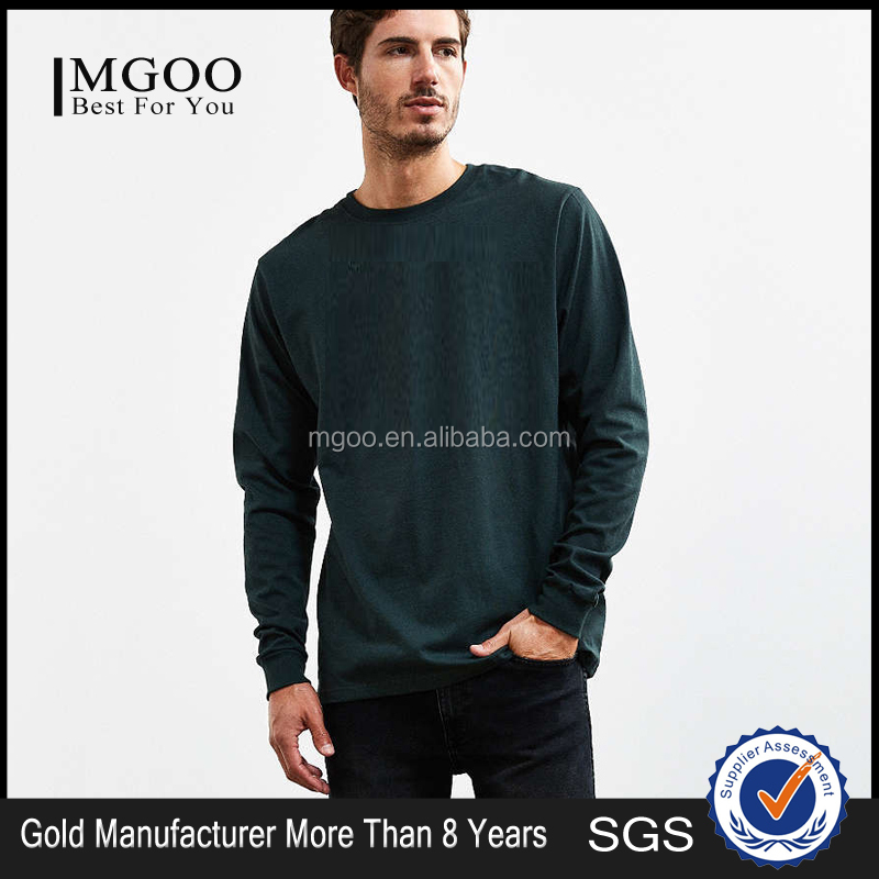 New Arrival Design Customized Long Sleeve Men Tee 100 Cotton T Shirt Print Logo