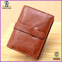 Newest Mini Short Style Wallet Cow Leather Lady Change Purse