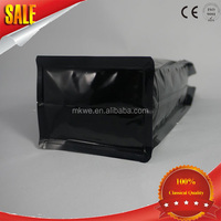 plastic flat bottom standing matt black coffee bag