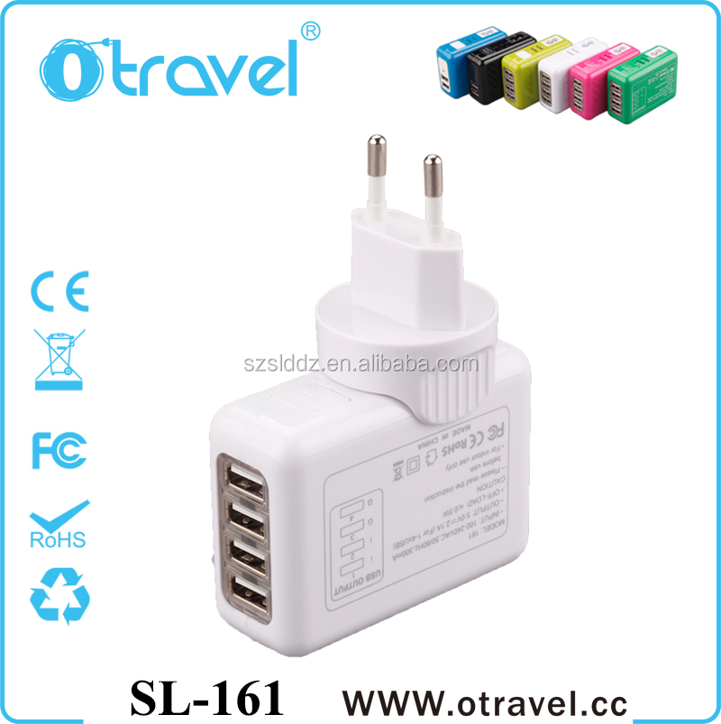 Best price for 4 Ports USB Travel Charger 5V 3A 15W USB Wall Adapter US EU UK AU Plug for iPhone iPad samsung in UAE