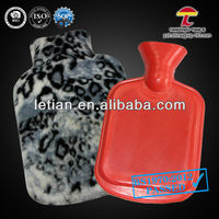 soft 500ml hot water bag with cover animal skins