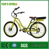 Top E-cycle Powered China Manufacturer CE Approval 36V 250w 26 Inch LCD Display Adult Women Beach Cruiser Bike