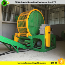 Chinese manufacturer waste tire shredder machine