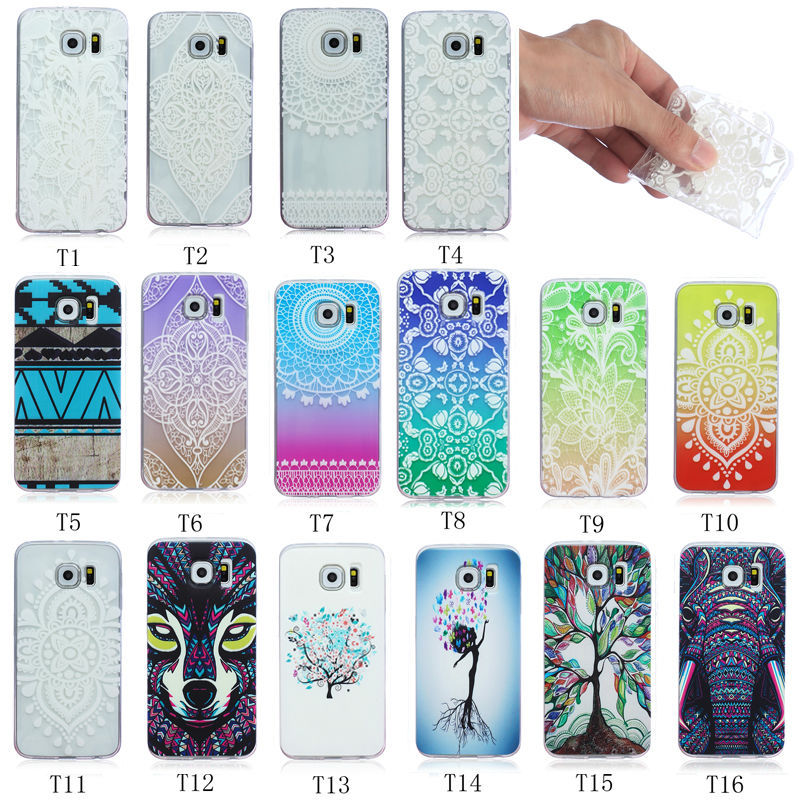 cute Colorful Flower TPU soft cover Case For Samsung galaxy S4 mini