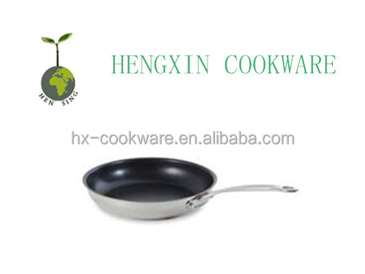 tri-ply cookware frying pans with non stick ceramic coating