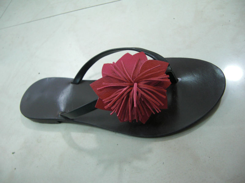plain flower slippers