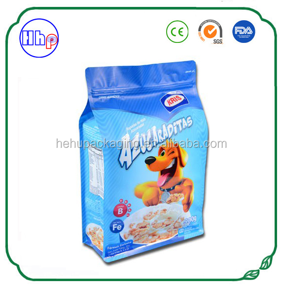 Pet food packaging custom flat bottom pouches supplier
