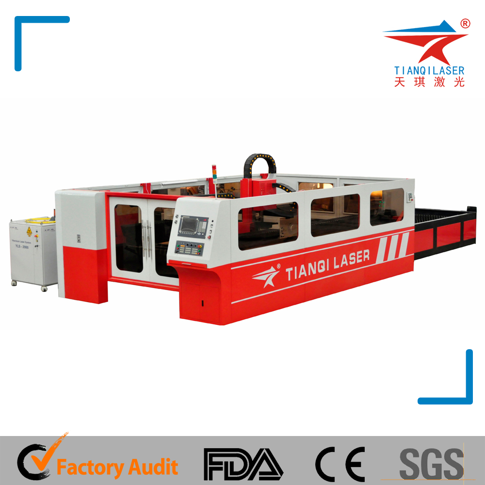 Fiber Laser Metal Cutting with Fiber Laser Source Head