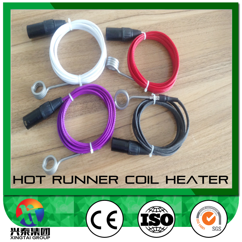10mm mini enail coil heater with k type thermocouple temperature sensor