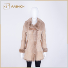 Prato italy Toscana lamb Real fur Shearling winter coat for women