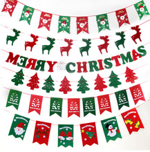 Hanging Fabric Felt Merry Christmas Letter Bunting Banner