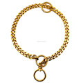 Hot selling P Chain Gold Custom Dog Collar
