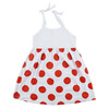 Lovely Summer/Seaside Newborn Baby Clothes Spot Printing Little Girls' Lace-up Dresses