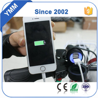 2016 New Hot 2.1A Waterproof Motorcycle USB Cell phone GPS Cigarette Lighter USB port integration Charger FreeShipping&Wholesale